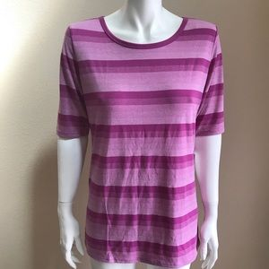 LuLaRoe GIGI striped pink tee